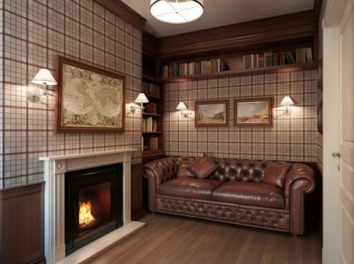 Plaid-wallpaper-den-lounge-665x497