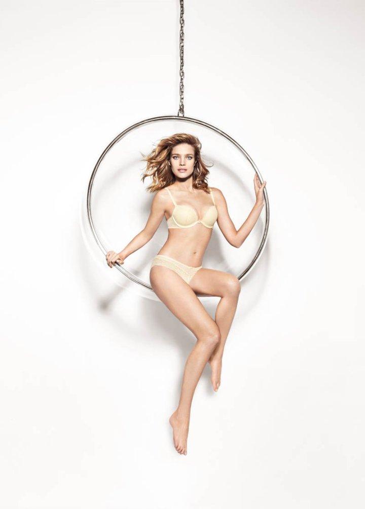 Natalia Vodianova Models Off Etam's Lingerie For Spring2014