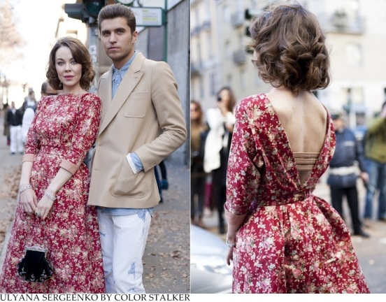 ulyana-sergeenko-fashion-week-style-floral-dress