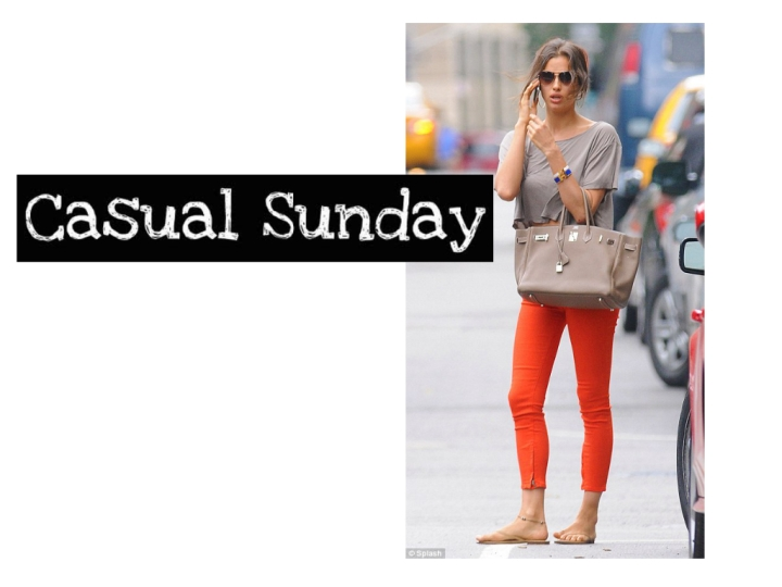 Casual Sunday Inspiration: Irina Shayk's Orange Crush