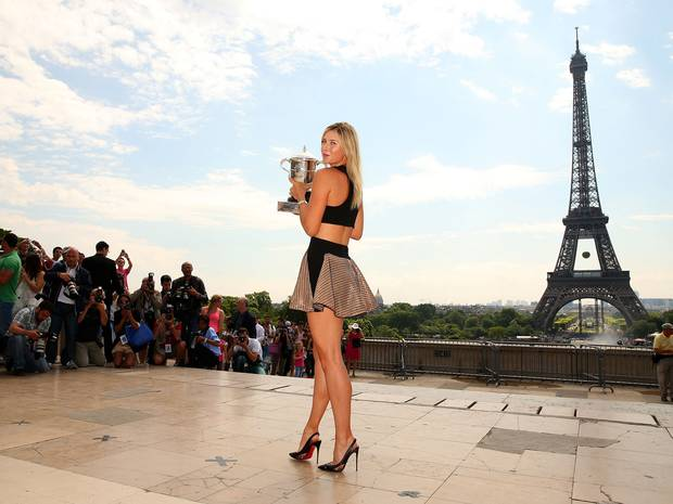 Maria Sharapova Poses In Cutout Dress After French Open Victory