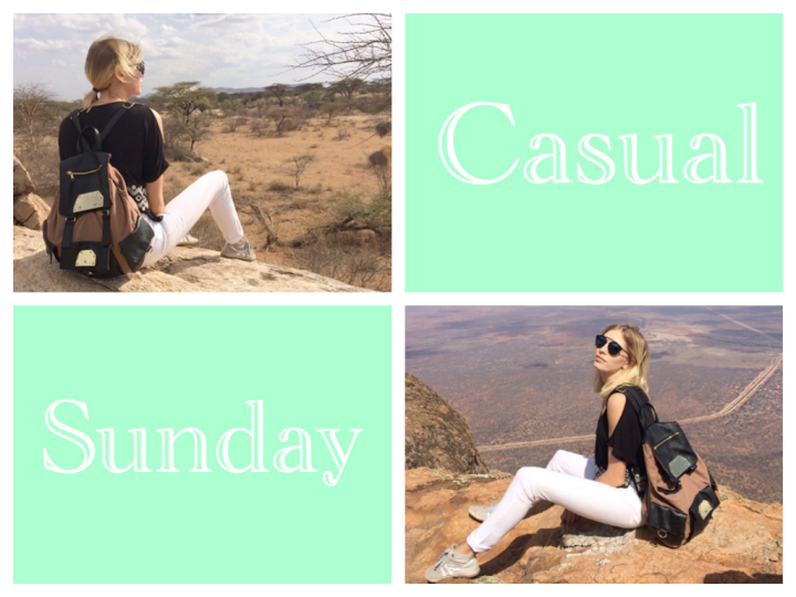 Casual Sunday: High Contrast, WhitePants.