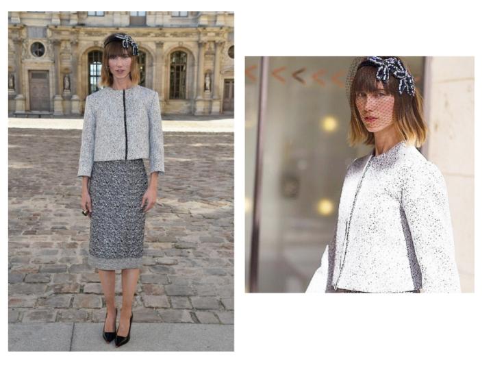 Anya Ziourova's Bird Cage Veil &Dior