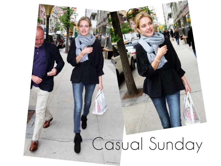 Casual Sunday: Peplums & Natalia Vodianova