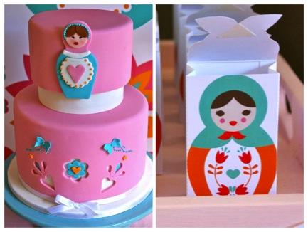 pastel-russian-doll-babushka-birthday-party-cake