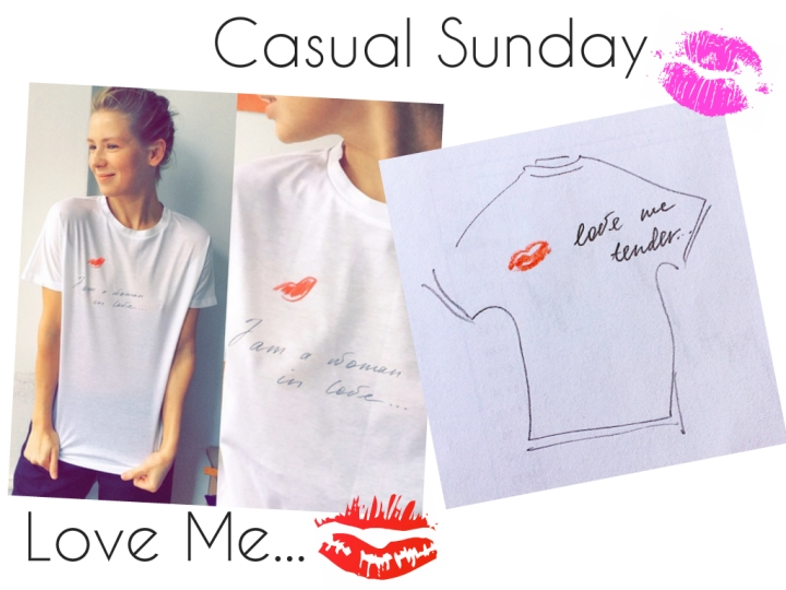 Casual Sunday: Vika's In Jeans & A PrintedTee
