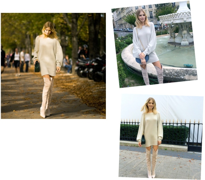 Fall Fashion Crush: Elena Perminova's Chloé Sweater & Knee Highs
