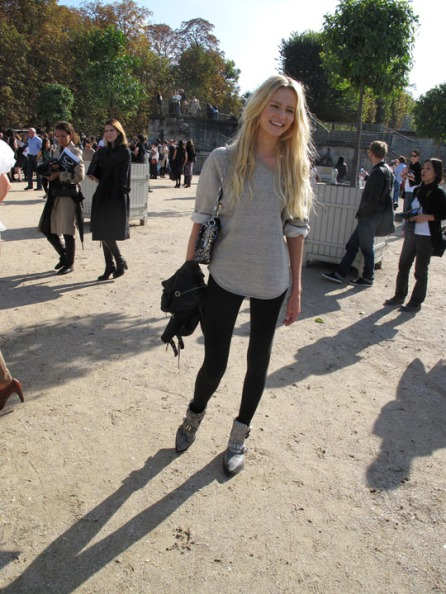 Natasha Poly leaving the Chloe Spring 2010 Show