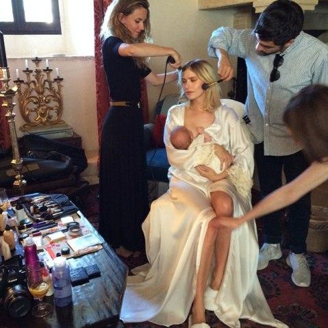 Elena Perminova Breast Feeding