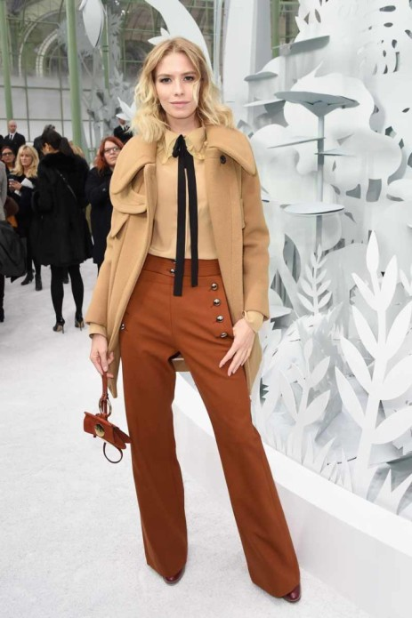 PARIS, FRANCE - JANUARY 27: Elena Perminova attends the Chanel show as part of Paris Fashion Week Haute Couture Spring/Summer 2015 on January 27, 2015 in Paris, France. (Photo by Pascal Le Segretain/Getty Images)