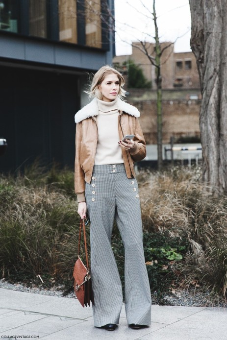 London_Fashion_Week_Fall_Winter_2015-Street_Style-LFW-Collage_Vintage-Elena_Perminova_Chloe-Aviator_Jacket-Flared_Trousers-1-790x1185