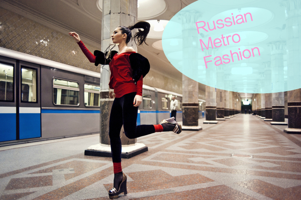 Stunning Moscow Metro Fashion Photograpghy
