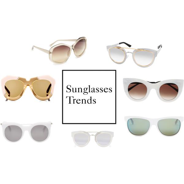 Trending Tuesday: Sunglass Trends 'White Frames *Geometric' ETC