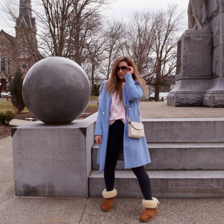 Blue Coat & A Paloma PiccasoHandbag